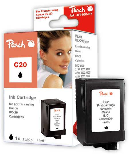 Peach  Druckkopf schwarz kompatibel zu Canon BJC 4300