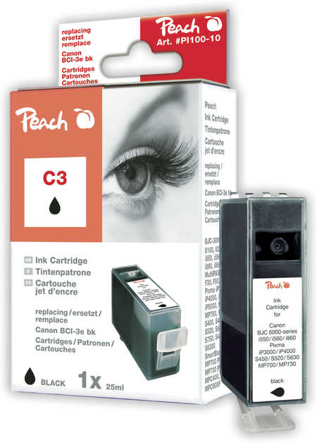 Peach  Tintenpatrone schwarz kompatibel zu Canon Smartbase MP 740