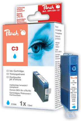 Peach  Tintenpatrone cyan kompatibel zu Canon BJ 535 PD