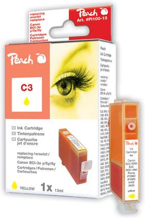 Peach  Tintenpatrone gelb kompatibel zu Canon BJ 535 PD