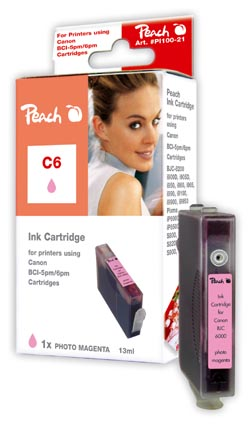 Peach  Tintenpatrone photo magenta kompatibel zu Canon BJ 535 PD