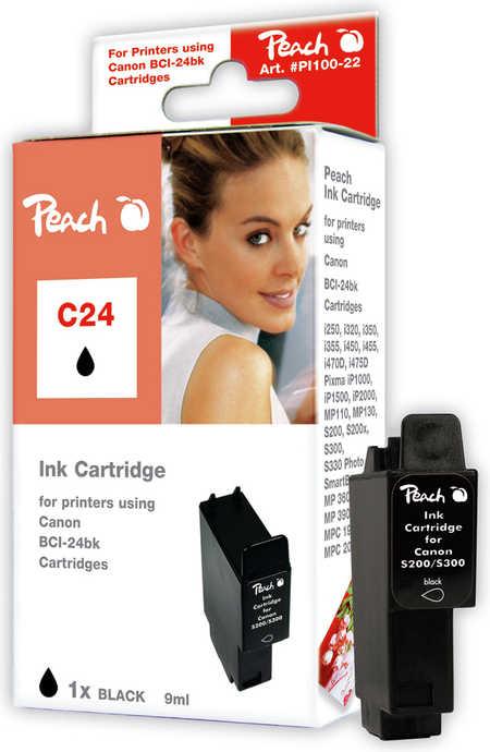 Peach  Tintenpatrone schwarz kompatibel zu Canon Smartbase MP 390