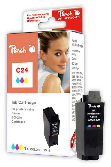 Peach  Tintenpatrone color kompatibel zu Canon Multipass MP 360