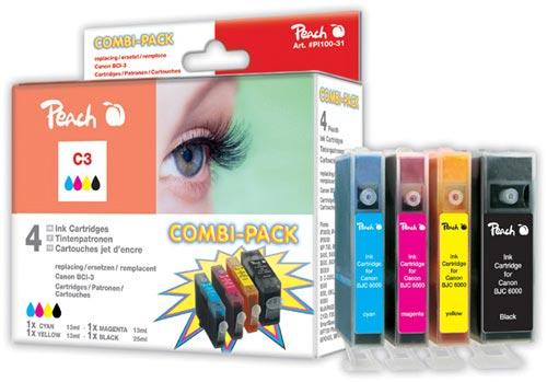 Peach  Spar Pack Tintenpatronen kompatibel zu Canon Multipass MP 730