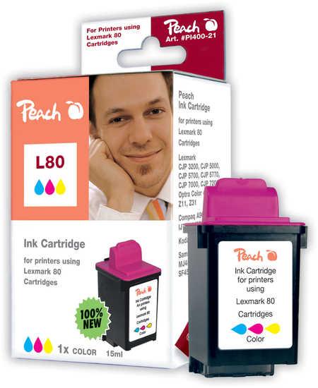 Peach  Tintenpatrone color kompatibel zu Lexmark Optra Color 40