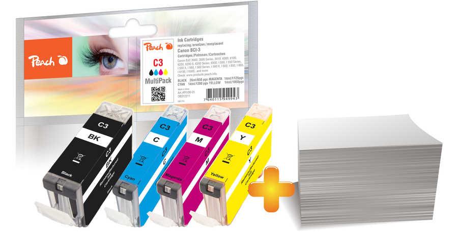 Peach  Foto Pack kompatibel zu Canon Multipass MP 730