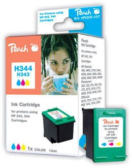 Peach  Druckkopf color kompatibel zu HP OfficeJet 7210 XI
