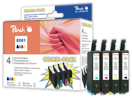Peach  Spar Pack Tintenpatronen kompatibel zu Epson Stylus D 88 Plus