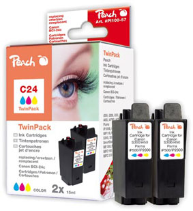 Peach  Doppelpack Tintenpatronen color kompatibel zu Canon Multipass MP 360