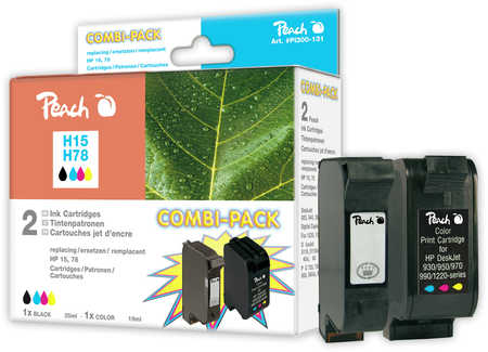 Peach  Spar Pack Druckköpfe kompatibel zu HP OfficeJet 5110 XI