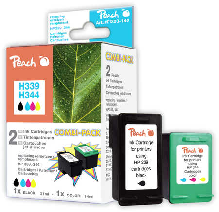 Peach  Spar Pack Druckköpfe kompatibel zu HP OfficeJet 7210 XI