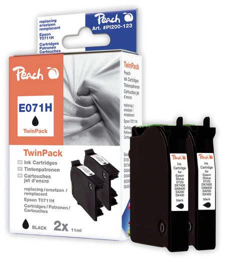 Peach  Doppelpack schwarz kompatibel zu Epson Stylus D 120