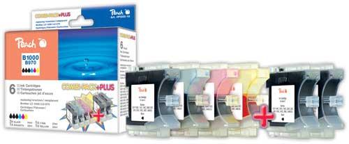 Peach  Spar Pack Plus Tintenpatronen, XL-Füllung, kompatibel zu Brother Intellifax 1960 C