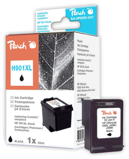 Peach  Druckkopf schwarz kompatibel zu HP OfficeJet 4500