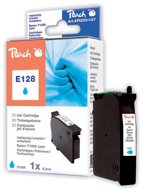 Peach  Tintenpatrone cyan kompatibel zu Epson Stylus T 22