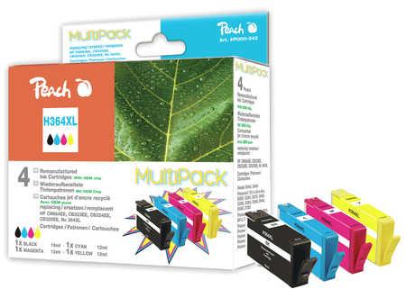 Peach  Spar Pack Tintenpatronen kompatibel zu HP PhotoSmart Plus