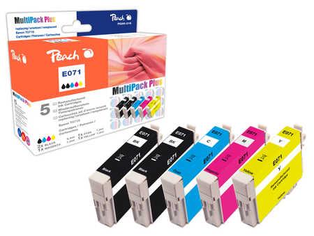 Peach  Spar Pack Plus Tintenpatronen kompatibel zu Epson Stylus D 78