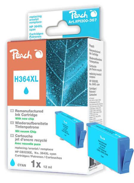 Peach  Tintenpatrone cyan kompatibel zu HP PhotoSmart Premium B 010 a