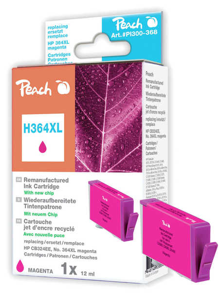 Peach  Tintenpatrone magenta kompatibel zu HP PhotoSmart Plus