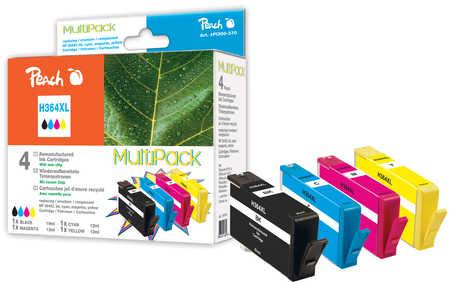 Peach  Spar Pack Tintenpatronen kompatibel zu HP PhotoSmart Premium B 010 a
