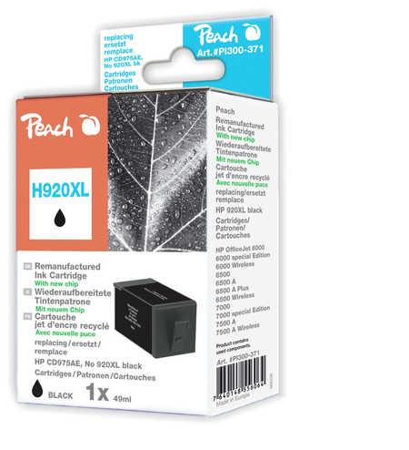 Peach  Tintenpatrone schwarz HC kompatibel zu HP OfficeJet 6000