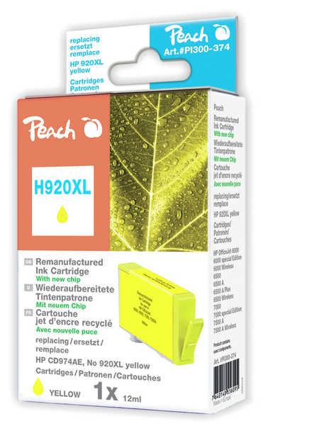 Peach  Tintenpatrone gelb HC kompatibel zu HP OfficeJet 6000