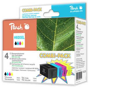 Peach  Spar Pack Tintenpatronen kompatibel zu HP OfficeJet 6000