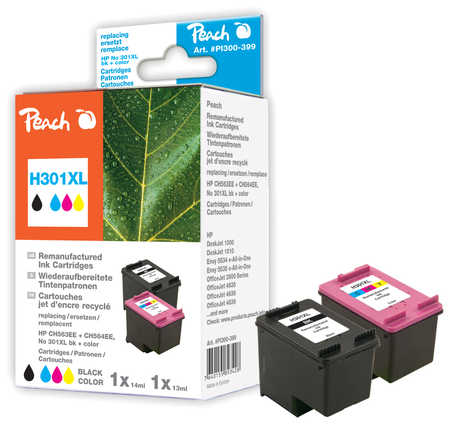 Peach  Spar Pack Druckköpfe kompatibel zu HP OfficeJet 4639