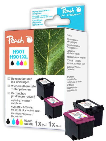 Peach  Spar Pack Druckköpfe kompatibel zu HP OfficeJet 4500