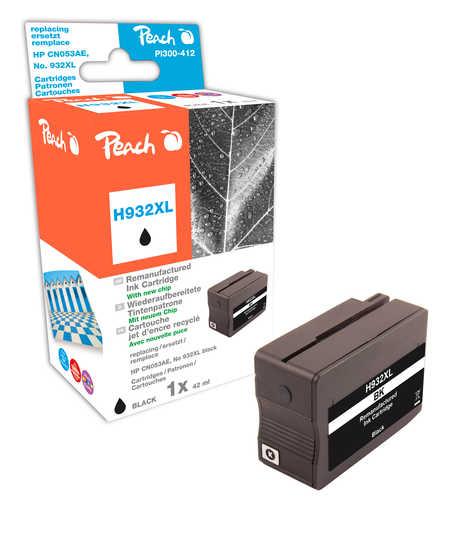 Peach  Tintenpatrone schwarz HC kompatibel zu HP OfficeJet 7110 wide format